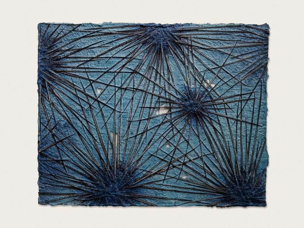 'Spines III'  Aquarelle on handmade paper - 65cm x 47cm