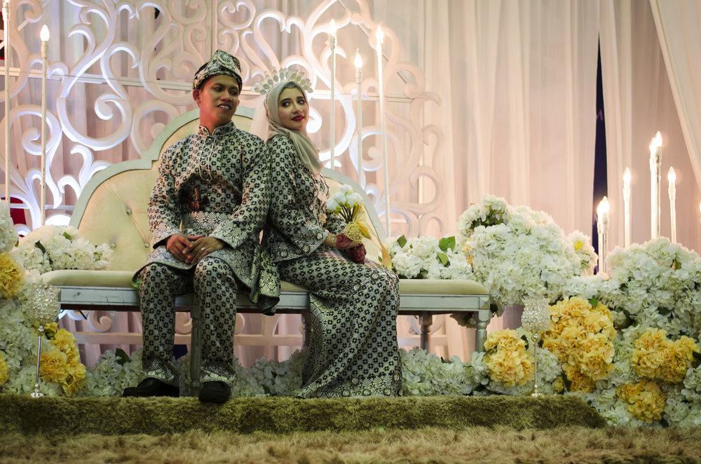 Nizam & Bella   Wedding photography for Nizam and Bella during the Bersanding Ceremony.