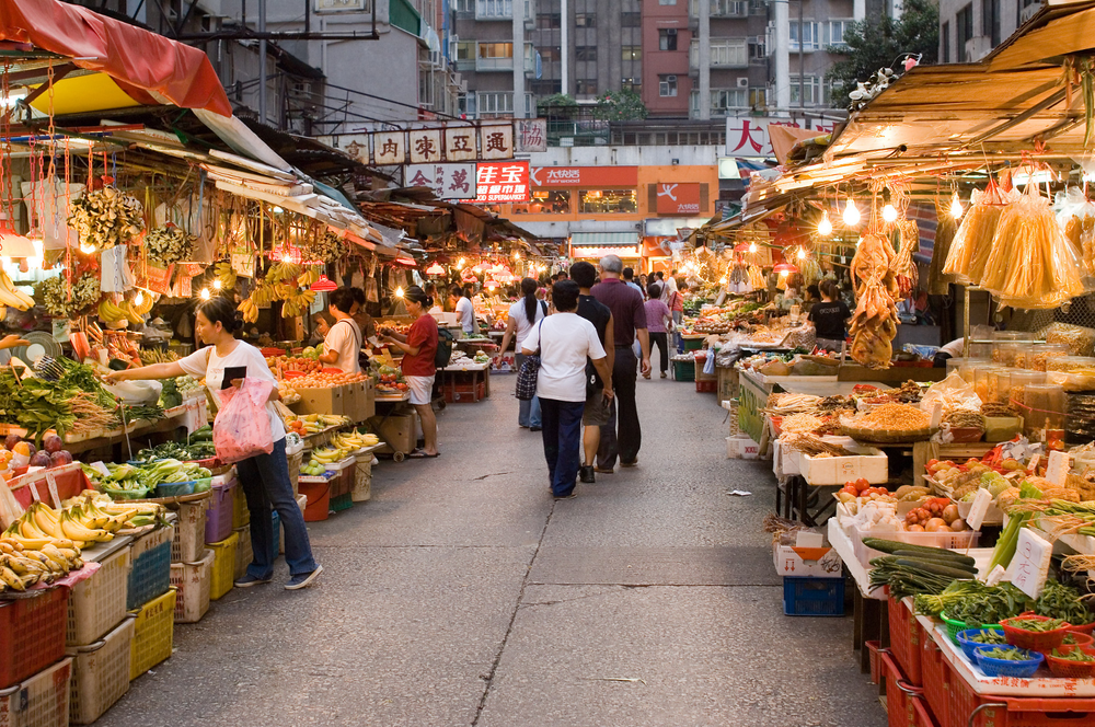A Marketplace in Hong Kong