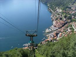 Pigra, above Argegno, reached by cable car