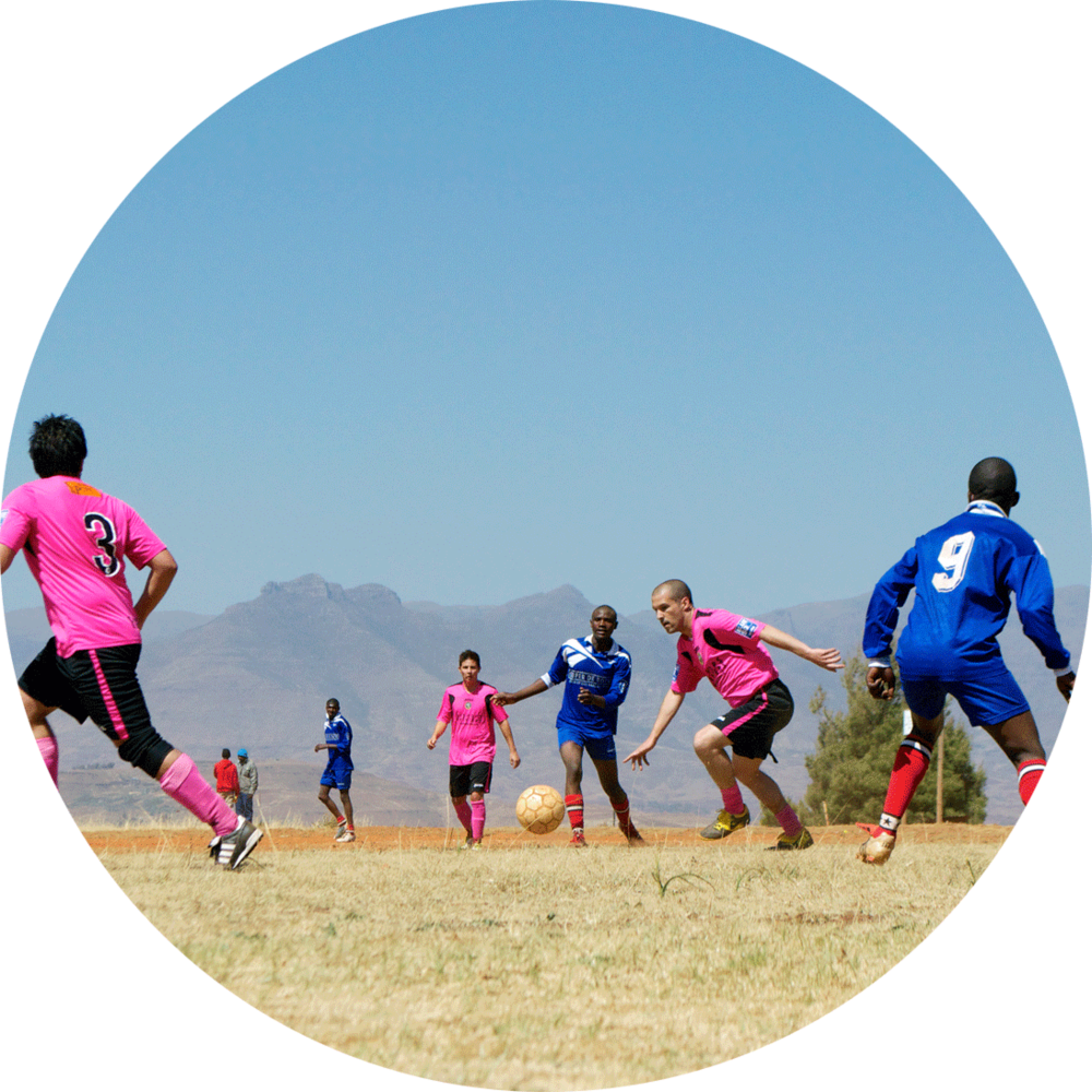 Lesotho - Experience the beauty of Africa from the mountains to the ocean while using soccer to help orphans and vulnerable children