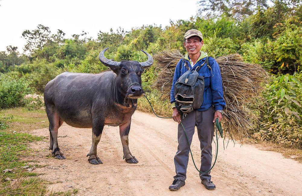 Laos Farmer Luang Prabang