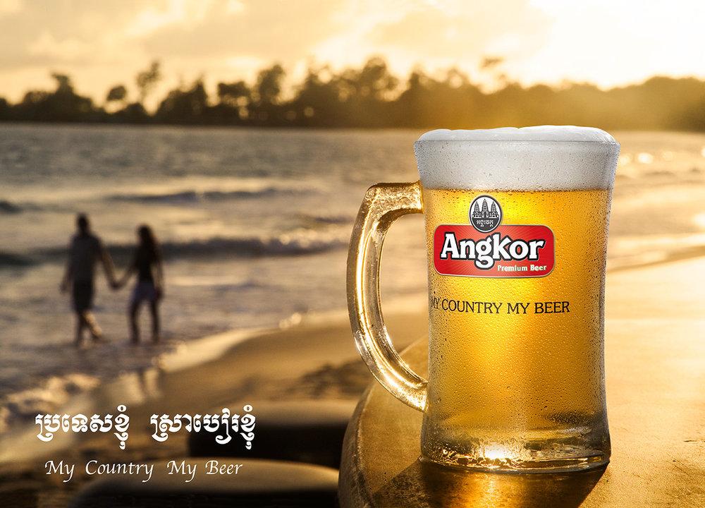 Angkor Beer Billboard ad Sihanoukville