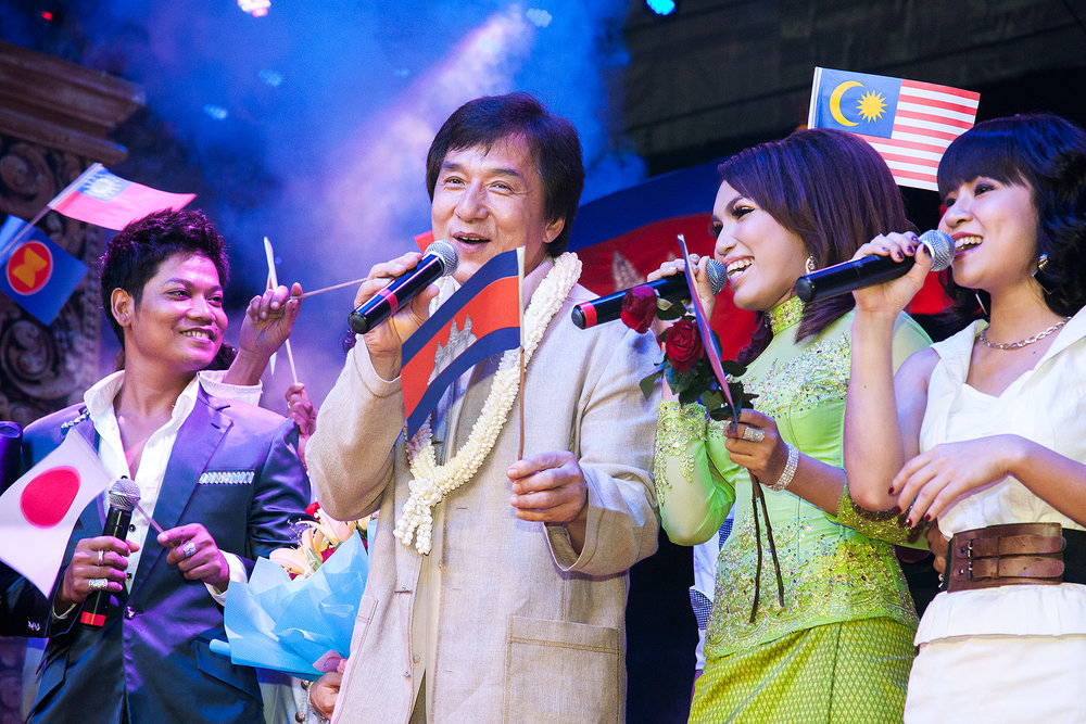 Jackie Chan, SEA TV, Phnom Penh Bridges Int. Peace Foundation