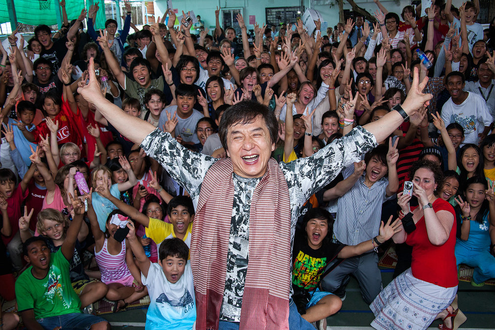 Jackie Chan, ISPP School, Phnom Penh, Bridges Int. Peace Foundation