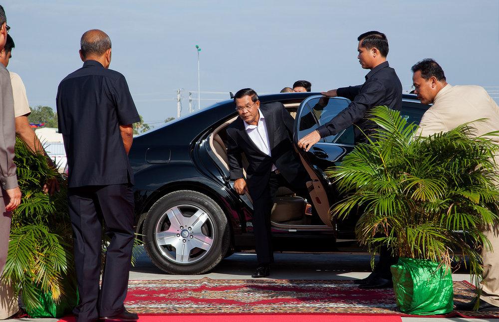 Prime Minister Hun Sen Minibea Factory Opening Phnom Penh