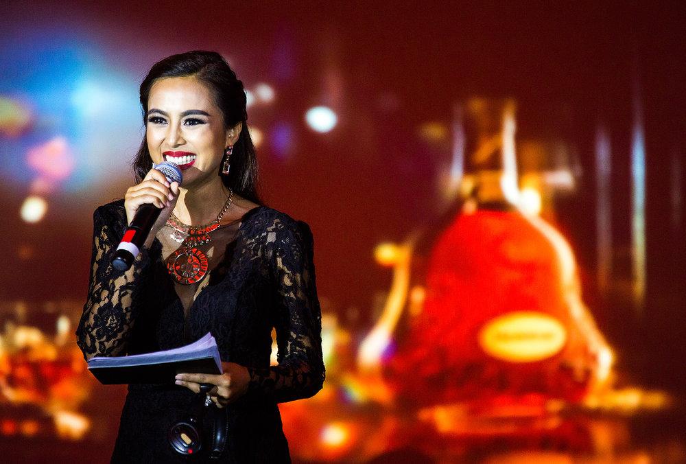 Linda Yan MC, Hennessy Anniversary, Raffles Phnom Penh, Cambodia