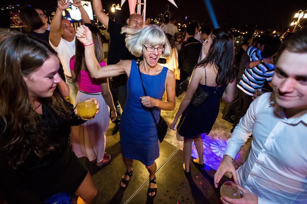 'New Year Party, Sky Bar, Phnom Penh Cambodia