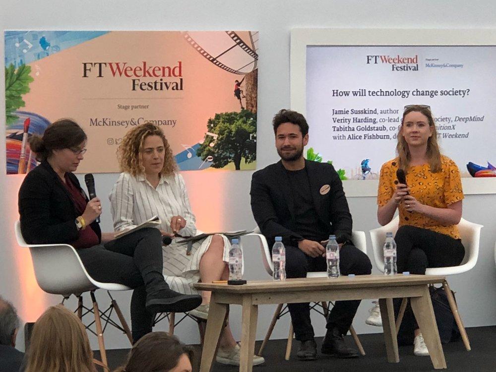 "Financial Times  Weekend Festival, ""Tech Tonic"""