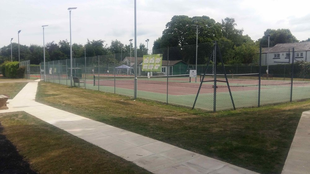 Two courts at the club