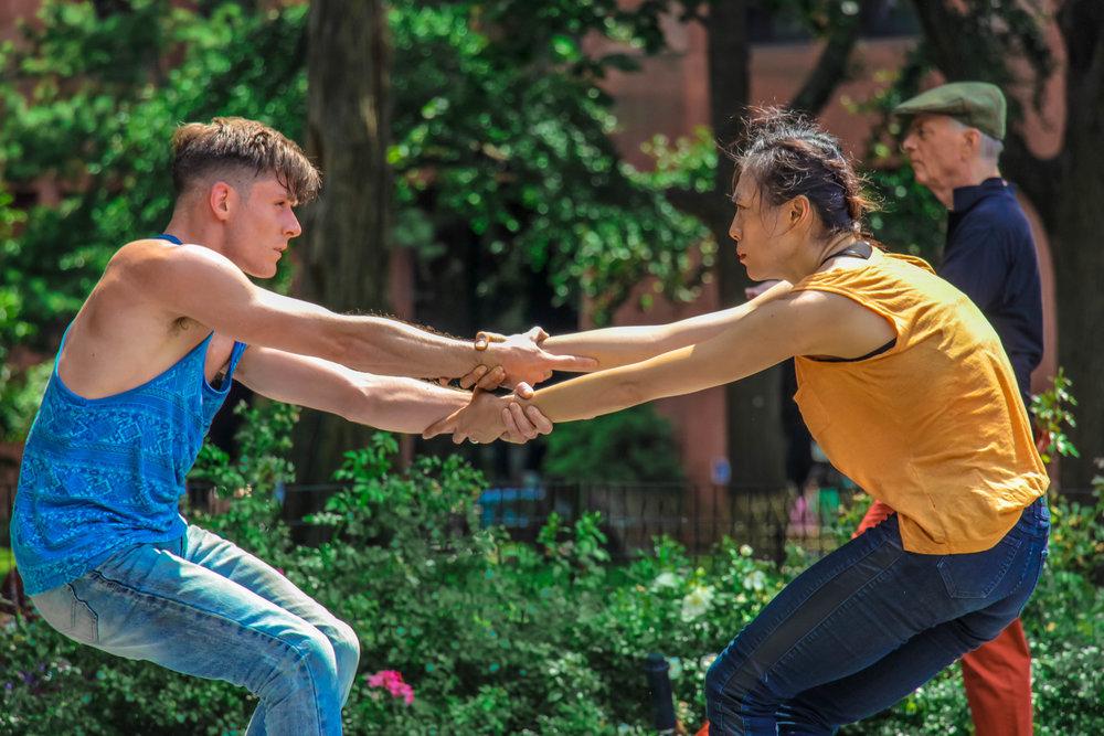 Douglas Dunn +Dancers %2F Rio Grande Union, Inc. – Douglas Dunn%2F © Vain Combat in Washington Square Park; Dancers_  Tony Bordonaro and Jin-Ju Song-Begin Photo by Justin Hamel, 2016.jpeg