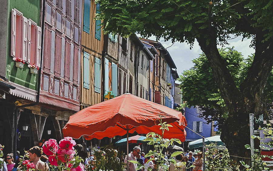 The colourful houses and buildings of Mirepoix, France - French Flea Market Finds, Mirepoix, France