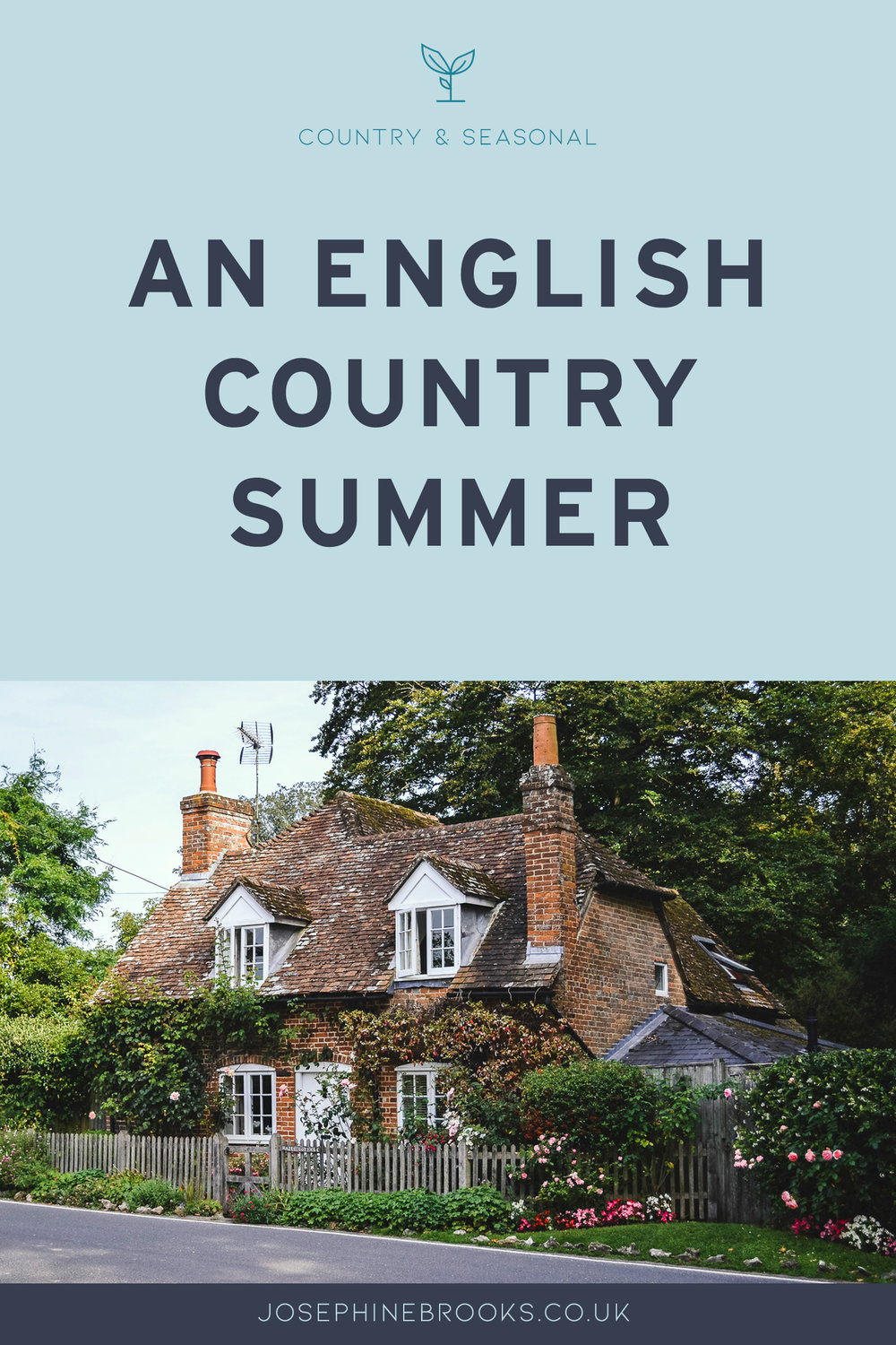 An English Country Summer in Hampshire UK, Cute country cottage. English summer time in the countryside.