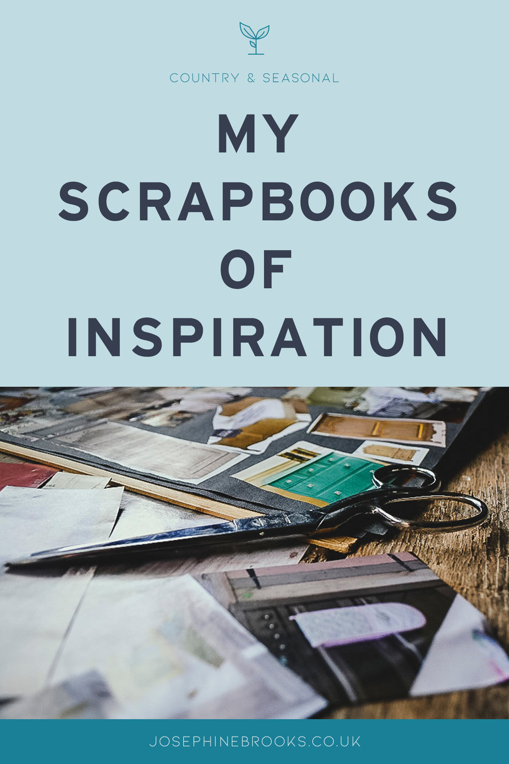 My scrapbooks of inspiration - a sneak peek inside my scrapbook where I keep magazine cutting for my own creative inspiration and for getting over creative's block!