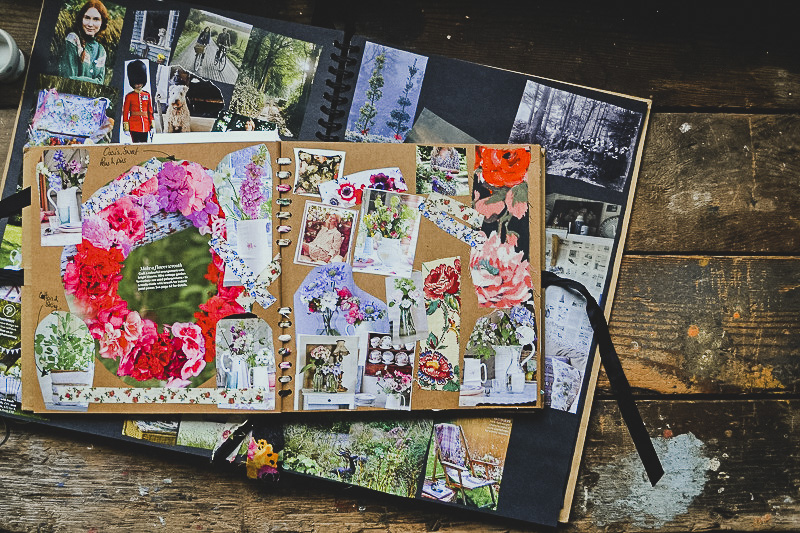 Summer weaths and summer flowers, sweet peas and vintage florals - Scrapbooks of creative inspiration