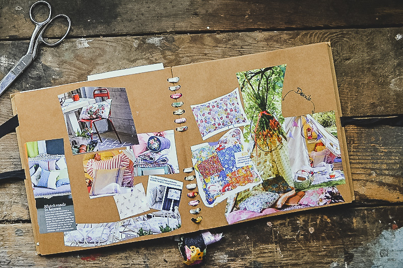 Summer garden inspiration, summer teepee and vintage floral cushions - Scrapbooks of creative inspiration