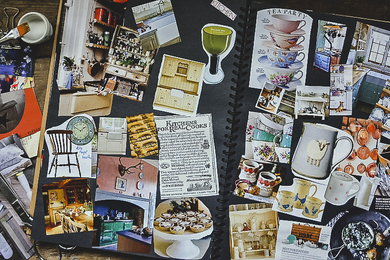 Country kitchen inspiration in a scrapbook - Scrapbooks of creative inspiration