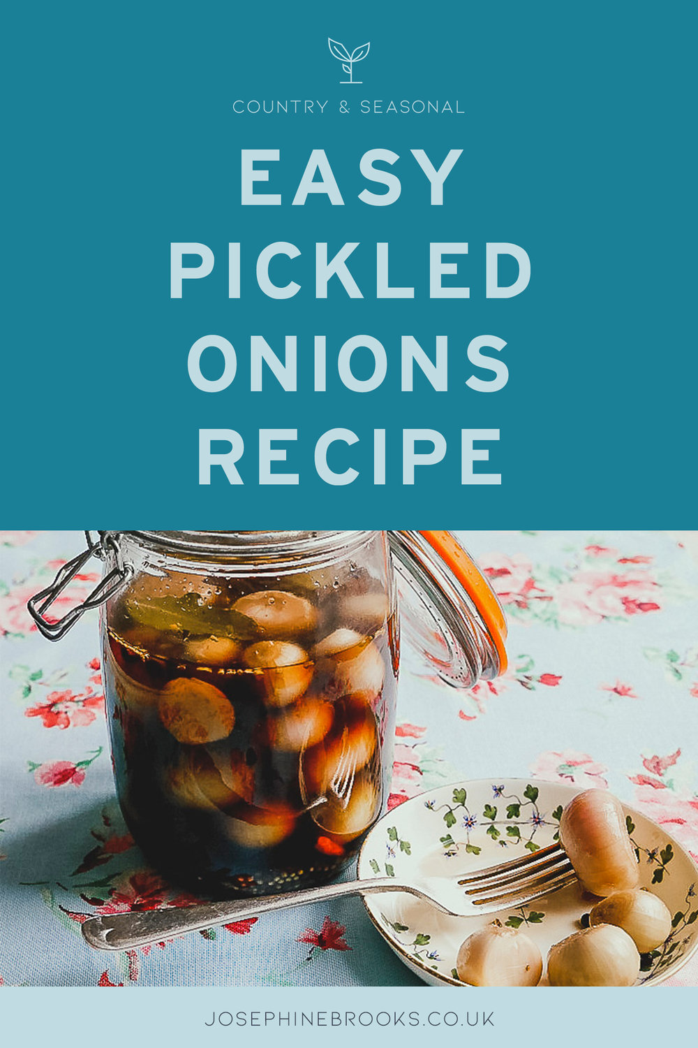 Easy Pickled Onions Recipe - easy peasy and straight forward homemade pickled onions or shallots