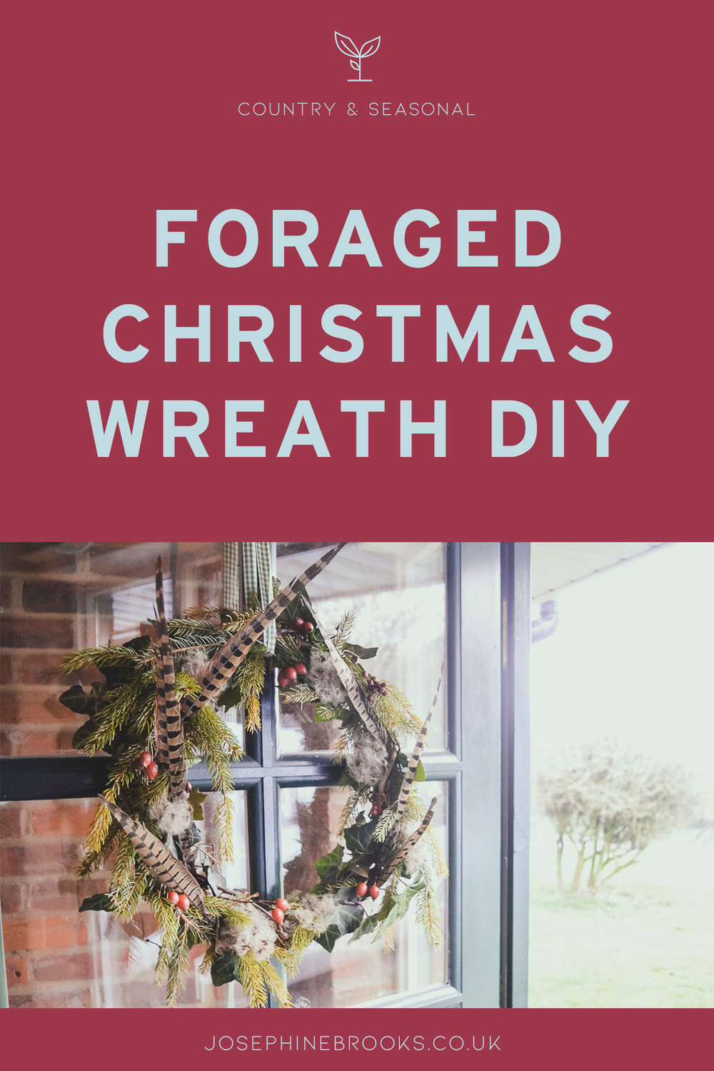 Foraged Christmas Wreath DIY - make your own Christmas wreath using the natural foliage from around your home, Christmas wreath how to