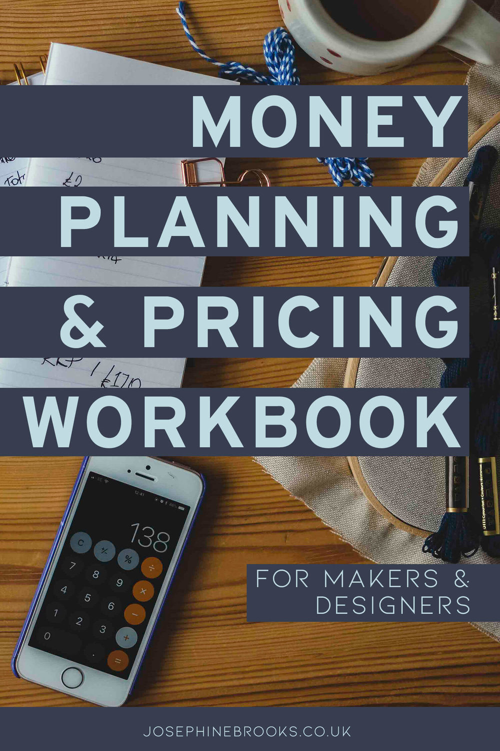 Money & Pricing Workbook for Makers & Designers | Setting prices for handmade products | Setting income goals for creative business | How to set your prices | Pricing formulas for creative business | Product pricing guide