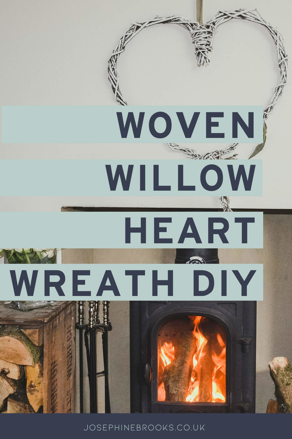 Woven Willow Heart Wreath DIY - make a willow heart decoration for your home - white willow heart - rustic home decor