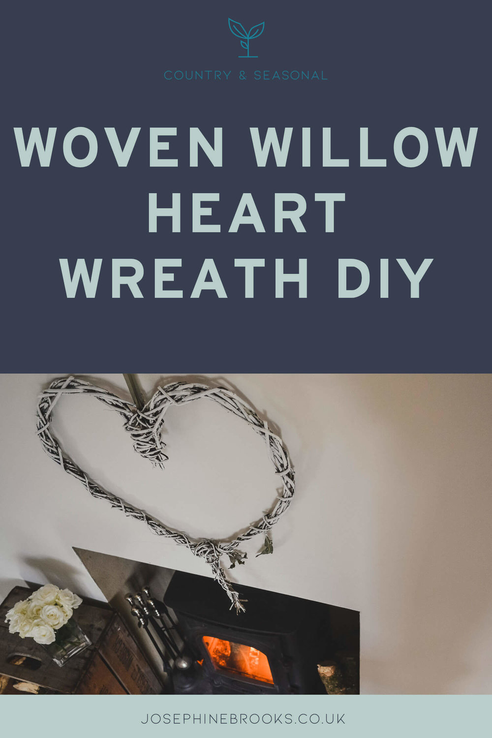 Woven Willow Heart Wreath Tutorial, How to make a heart wreath, Heart decoration DIY, White heart decoration