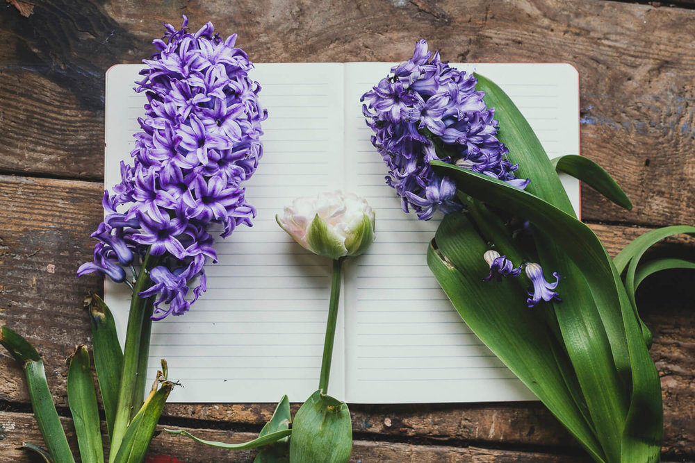 Hyacinths and Tulips on a rustic table - how to manage your time when you have a business and a job