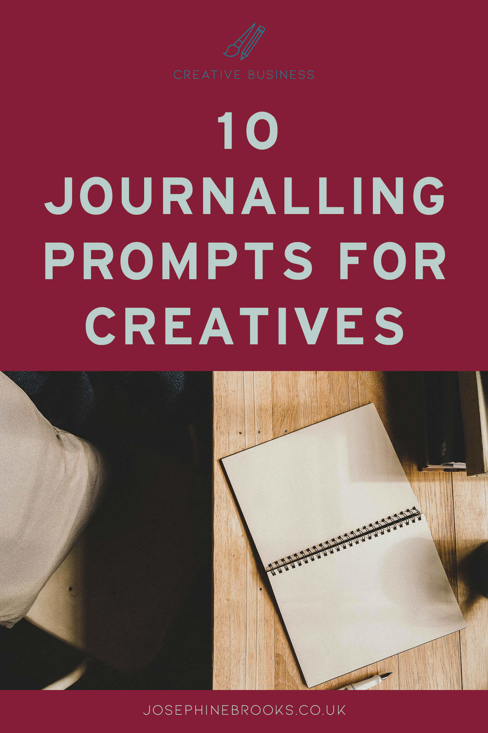 10 Journaling prompts for makers & designers, Journaling questions for creative business owners