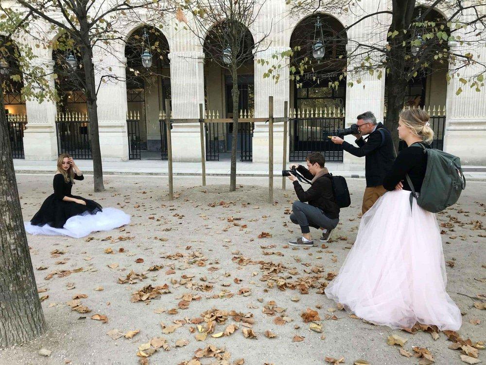Paris med mina fina kollegor från Sisters in Law. Foto:  Zanna