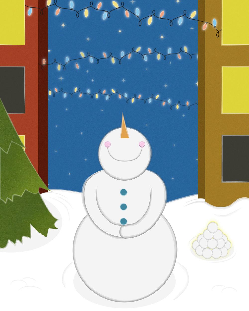 snowman+print