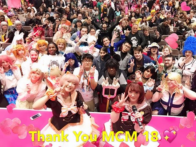 ✨✨ THANK YOU MCM ✨✨ Thank you for such a fun performance and welcoming us for our first MCM live! We hope you had an amazing time!  ありがとうございました! ขอบคุณที่มายิ้มด้วยกันนะค่ะ ✨ See you at the next stage ❤️🧡 #mcmldn18 #mcmcomiccon #海外アイドル #アイドル