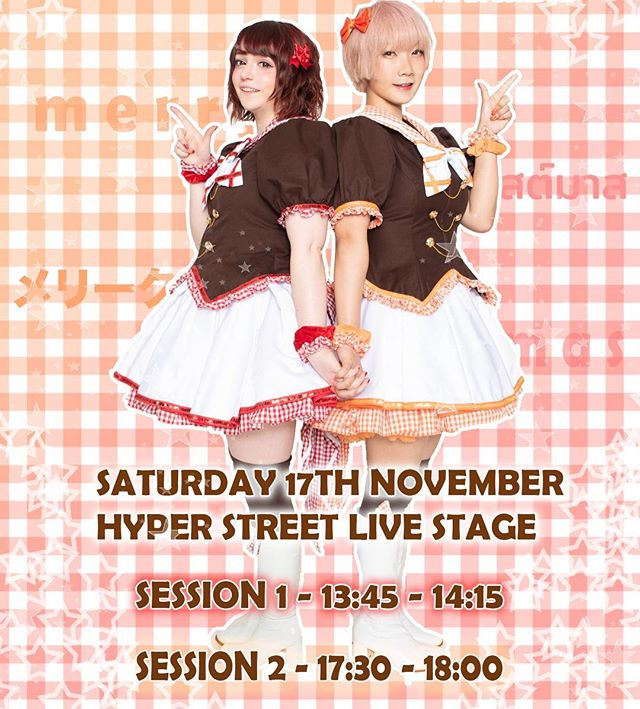 ✨【Live Announcement】✨ Chekiss will be returning to the @hyperjapanofficial Street Live Stage on November 17th! We have performances for both sessions of the day, so don't miss it! There are some fun seasonal songs in the setlist! ❄️