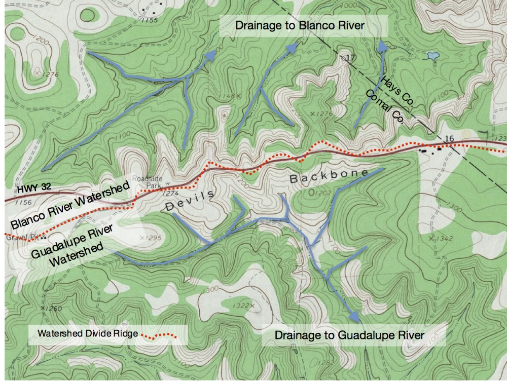 Devil's Backbone Topographic Map