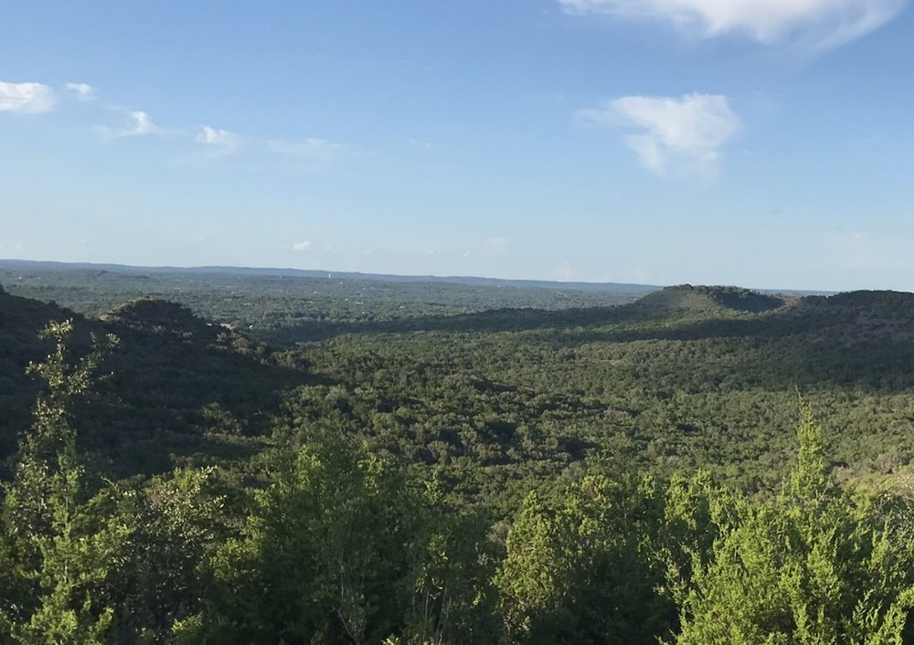 View North looking towards Wimberley