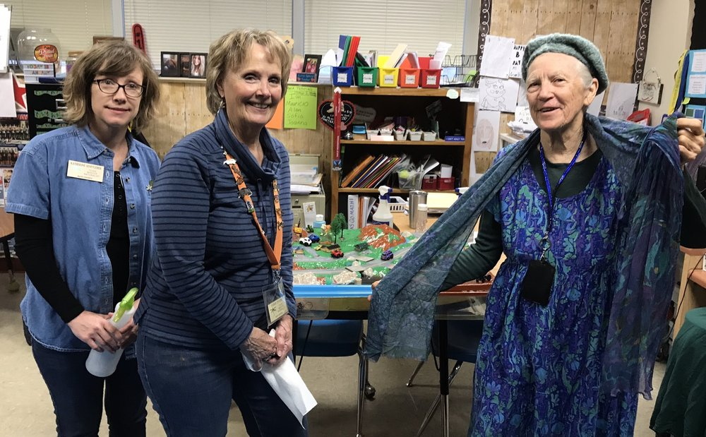 Katherine Senftleber, Susan Evans, Gracy Belle Broussard