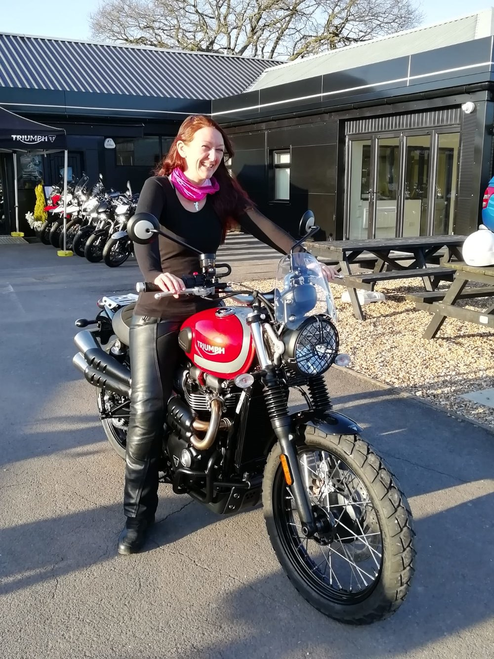 - Collecting Beatrix on the day I passed my licence, from Total Triumph in Somerset