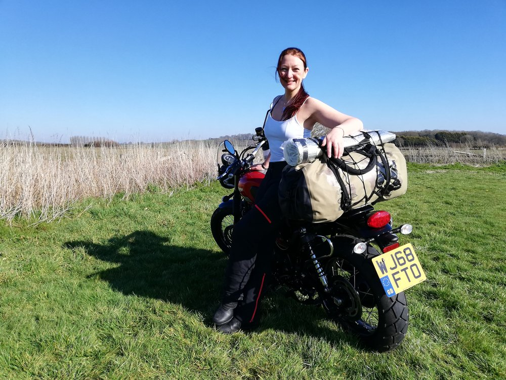 - At the Overland Winter Warmer 2019, riding 6.5 hours on the day after passing my test, to join a community of adventure bikers who continue to inspire me!!