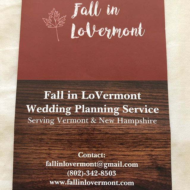 Looking for a detail oriented, creative wedding planner to help make all of your wedding dreams come true? We know weddings are a lot of work, that's why we recommend Fall in LoVermont to help with your wedding details big & small so that you can fully enjoy the wedding planning process!