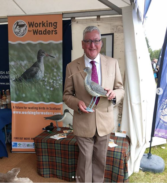 Fergus Ewing MSP shows an interest in Working for Waders at Moy in August