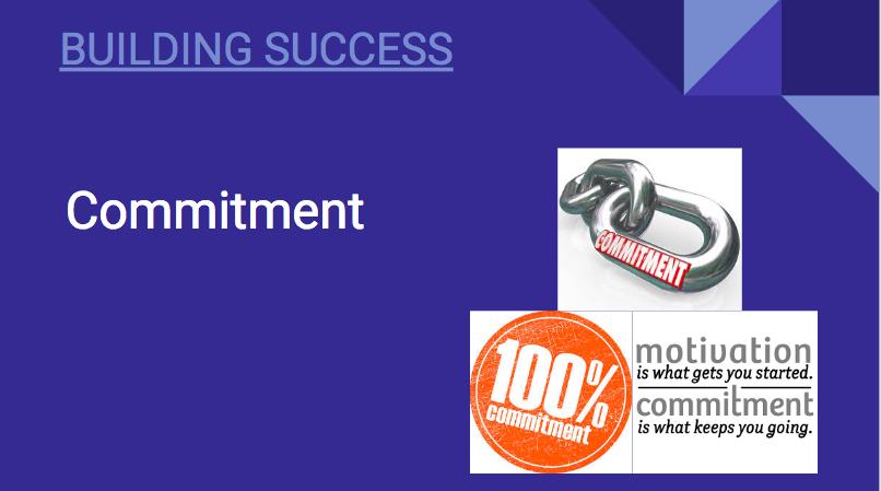 Building Success: Commitment