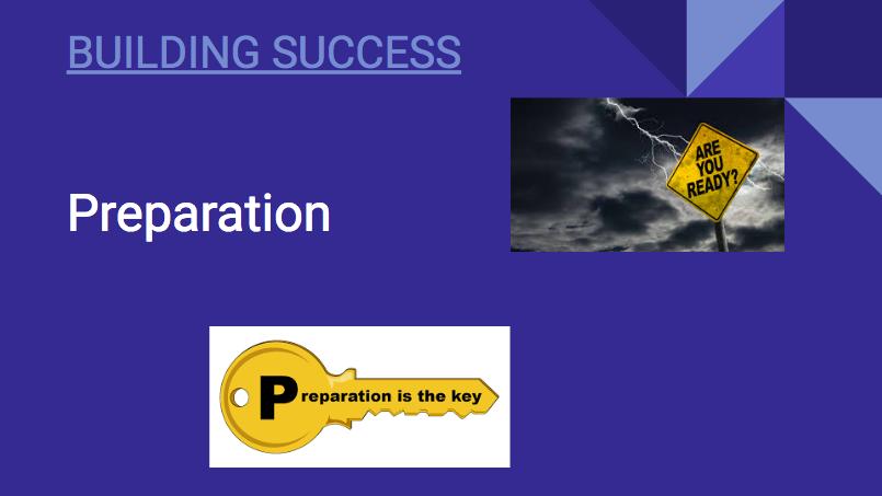 Building Success: Preparation
