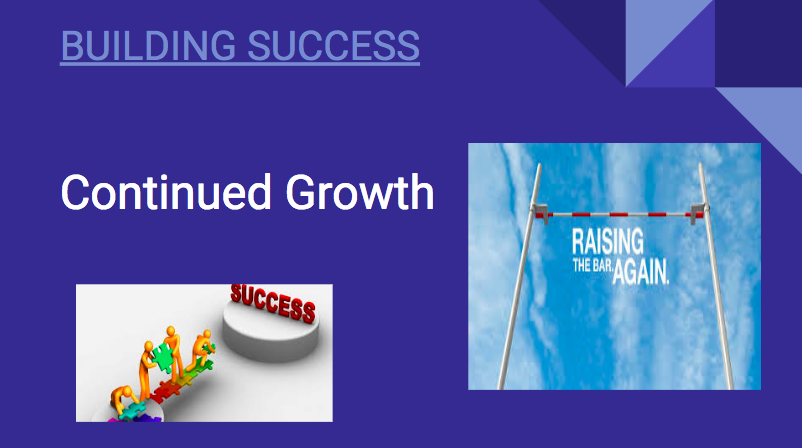Building Success: Conitnued Growth