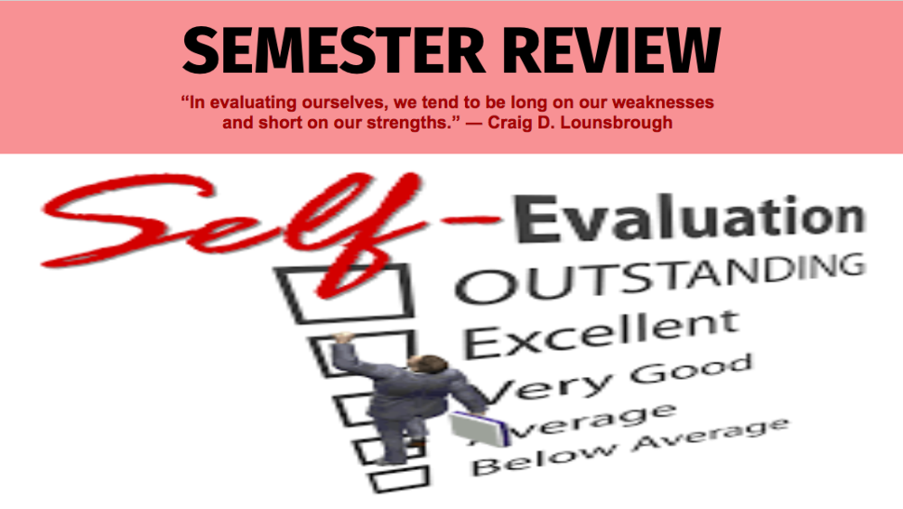 Semester Review & Self Evaluation