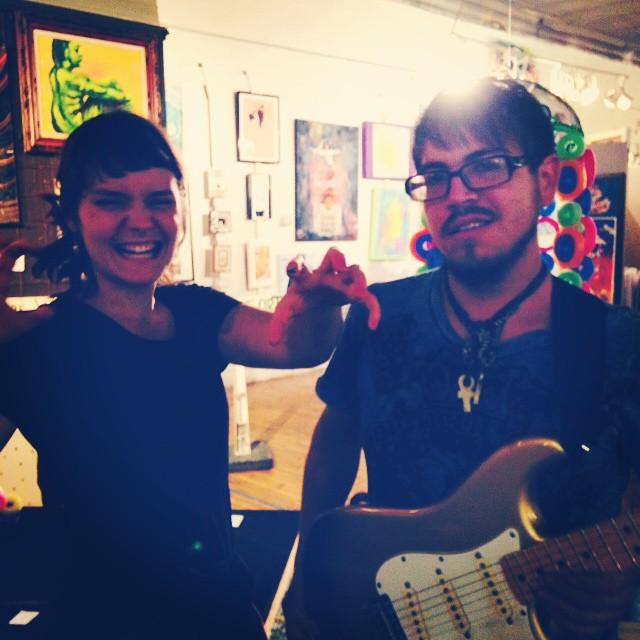 The rockstars last night! #FM4FP #DenverArtSociety #OpenMic #SpaceSuitsForIndians #OliviaBlu