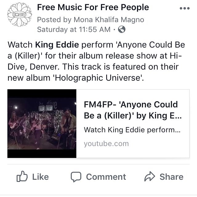 New videos are up now! Featuring King Eddie at @hidive_denver !! #youtube #facebook #localmusic #fm4fp