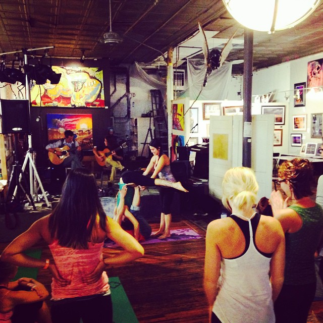 Acro Jam last night oh what a success!! #FM4FP #Acro #Yoga #ArtsCaravan