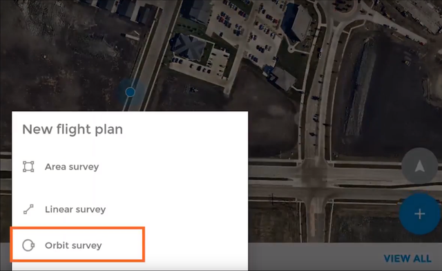 The Orbit Survey option is highlighted. Click on it to get started.
