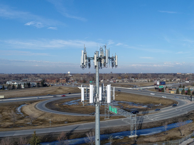 Perform up-close inspections of buildings and infrastructure like this cellular tower, where it might otherwise be difficult or dangerous for people to reach.