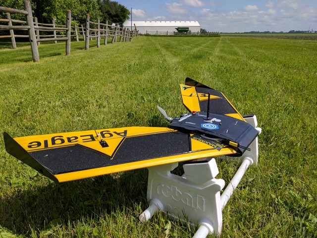 Botlink used a fixed-wing drone designed for agricultural surveys for its beyond visual line of sight (BVLOS) testing.