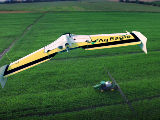 AgEagle fixed-wing drones come standard with Sentera NIR sensors.